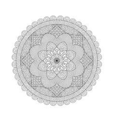 mandala coloring book for adults vector image