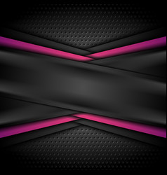 dark purple black tech abstract background vector image
