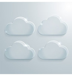 Modern Cloud Icons Set vector image