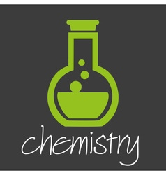 Chemistry flask research design banner and vector