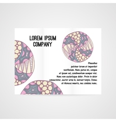 Abstract brochure with hand drawn ornament vector