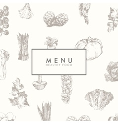 Trendy restaurant menu design hand drawn vector