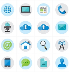 Flat icons for web icons and internet icons vector