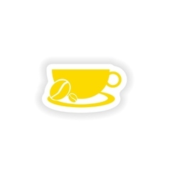 Icon sticker realistic design on paper demitasse vector