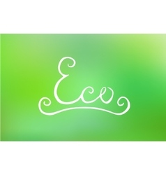 Handwritten eco lettering vector