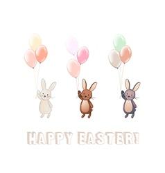 Cute bunny set vector
