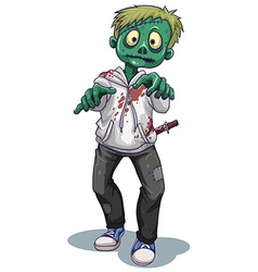 A scary male zombie vector