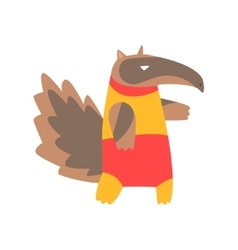 Anteater Animal Dressed As Superhero With A Cape vector image vector image