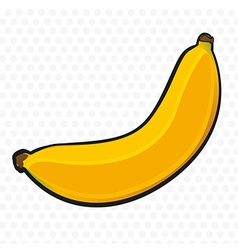 Banana cartoon on white background with gray dots vector