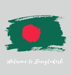 bangladesh watercolor national country flag icon vector image vector image