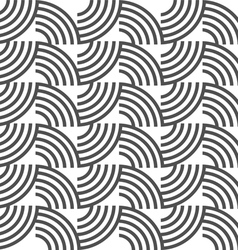 Black and white geometric striped seamless pattern vector image vector image