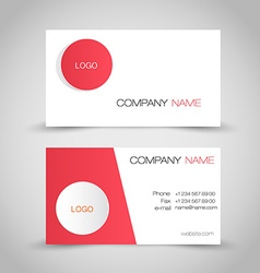 Business card set template Red and white color vector image vector image
