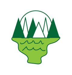 cartoon mountains landscape vector image vector image