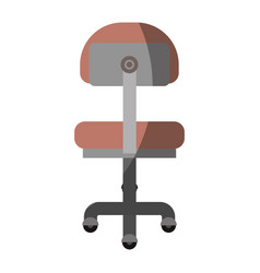 Colorful graphic of office chair back view without vector