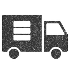 Data transfer van icon rubber stamp vector
