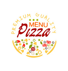 flat pizza house logo creative design element with vector image vector image