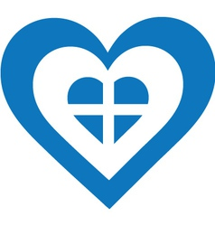 Greece Heart vector image