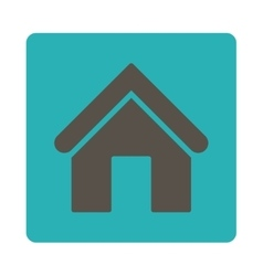 Home flat grey and cyan colors rounded button vector