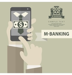 Mobile banking phone vector