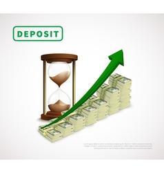Money prosperity realistic business template vector