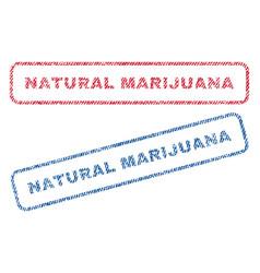 Natural marijuana textile stamps vector