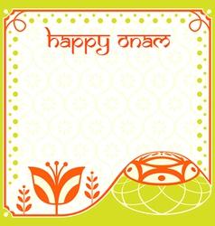 Onam holiday card vector