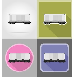 Railway transport flat icons 04 vector
