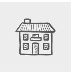 Real estate house sketch icon vector image