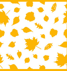 seamless pattern with stylized leaves vector image