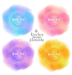 Set of four bright summer design elements vector