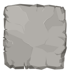 Stone rock cartoon broken boulder vector