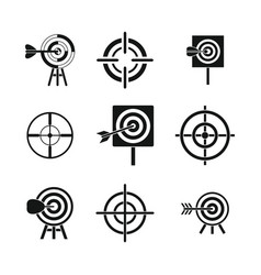 target icon set simple style vector image