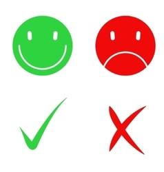 Yes and no check symbol marks vector