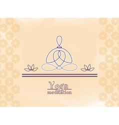 Yoga meditation vector