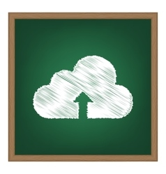 Cloud technology sign white chalk effect on green vector
