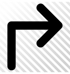 Turn right icon vector