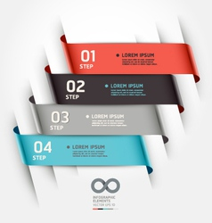 Abstract ribbon options banner vector image