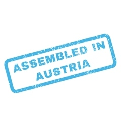 Assembled in austria rubber stamp vector