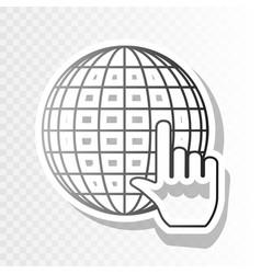earth globe with cursor  new year blackish vector image