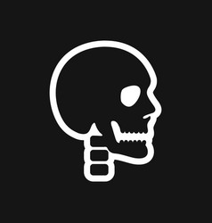 stylish black and white icon human skull vector image