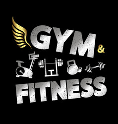 Gym and fitness banner vector