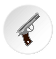 Pistol icon circle vector