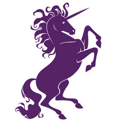 Silhouette of beautiful prance unicorn vector