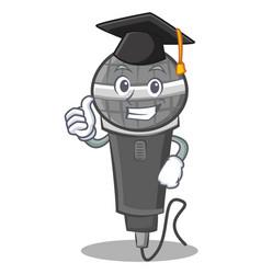 Graduation microphone cartoon character design vector