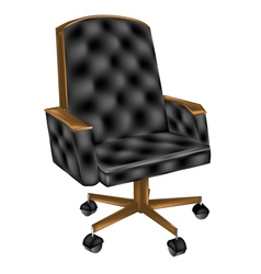 Leather office chair vector