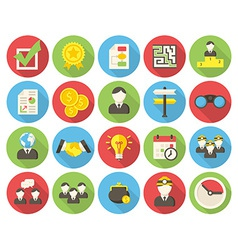 Business round icons vector
