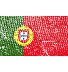 Flag of portugal with old texture vector