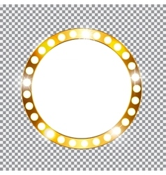 Golden shiny frame vector