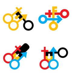 Male and female signs vector