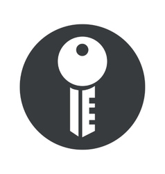Monochrome round key icon vector